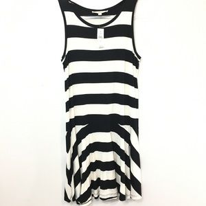 Loft Striped Fit and Flare Wide Striped Dress